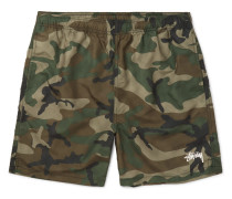 Camouflage-print Shell Shorts