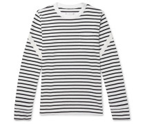 Dixie Webbing-trimmed Striped Cotton T-shirt