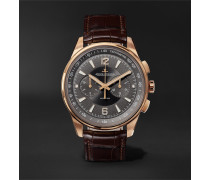 Polaris Chronograph 42mm Rose Gold And Alligator Watch