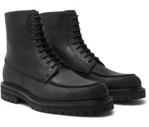 Jacques Waxed-Suede Boots