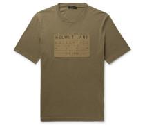 Logo-appliquéd Cotton-jersey T-shirt - Green