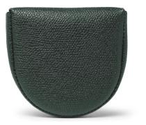 Pebble-Grain Leather Coin Wallet