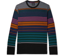 Striped Organic Cotton-jersey T-shirt
