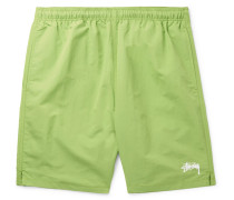 Stock Water Slim-fit Shell Shorts - Lime green