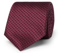 8cm Silk-jacquard Tie - Red