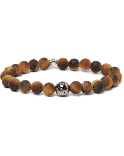 Tiger's Eye Bead And Sterling Silver Bracelet