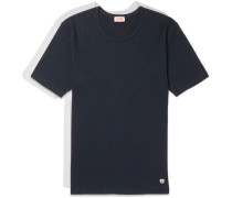 Two-pack Slim-fit Cotton-jersey T-shirts - Navy