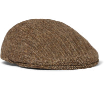 Wool-tweed Flat Cap