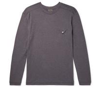 Mélange Stretch Cotton and Cashmere-Blend T-Shirt