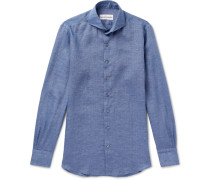 Evron Cutaway-collar Linen Shirt