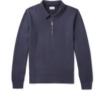 Loopback Cotton-jersey Half-zip Sweatshirt
