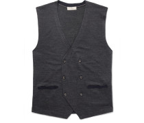 Double-breasted Merino Wool And Silk-blend Vest