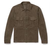 Slim-Fit Unlined Suede Jacket
