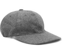 Grosgrain-Trimmed Mélange Cashmere Baseball Cap