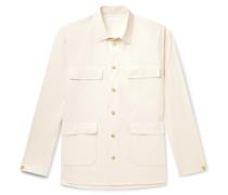 Ethan Crinkled-Cotton Shirt
