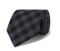 8cm Checked Cotton Tie