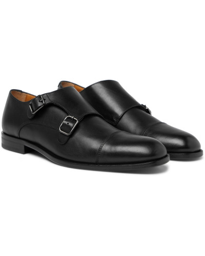 Cardiff Leather Monk-strap Shoes