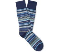 Striped Stretch Cotton-Blend Socks