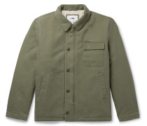 Rock Faux Shearling-Lined Cotton-Canvas Jacket