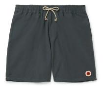 Mid-Length Cotton-Blend Swim Shorts