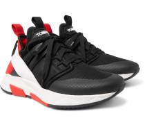 Jago Neoprene, Suede And Mesh Sneakers - Black