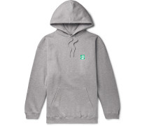 Oversized Logo-Print Fleece-Back Cotton-Jersey Hoodie