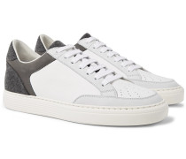 Urano Nubuck, Felt And Full-grain Leather Sneakers