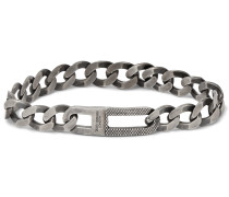 Grumette Burnished Sterling Silver Chain Bracelet