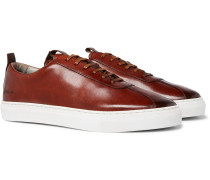 Painted Leather Sneakers
