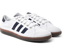 Spezial Norfu Leather-trimmed Canvas Sneakers - White