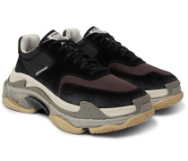 Triple S Nylon, Mesh, Suede And Leather Sneakers