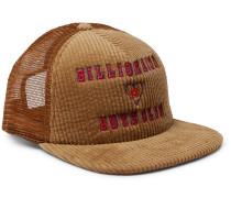 Logo-Embroidered Cotton-Blend Corduroy and Mesh Baseball Cap