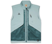 ACG Logo-Embroidered Shell and Mesh Gilet