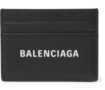 Everyday Logo-Print Full-Grain Leather Cardholder
