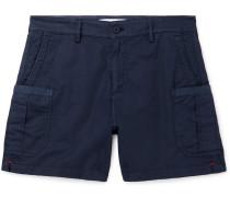 Bulldog Stretch Linen and Cotton-Blend Twill Cargo Shorts