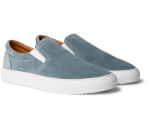 Larry Colour-Block Suede Slip-On Sneakers