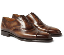 Victor Polished-leather Slip-on Oxford Shoes