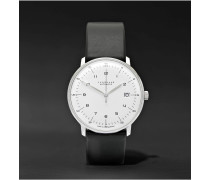 Max Bill Automatic 40mm Stainless Steel and Leather Watch, Ref. No. 27470000