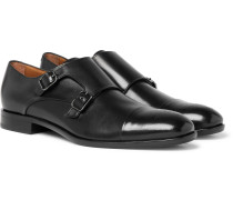 Stamford Leather Monk-strap Shoes - Black