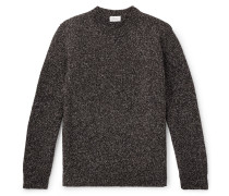 Mélange Wool Sweater - Brown