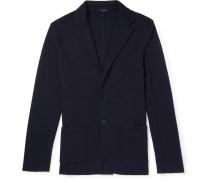 Slim-fit Wool Cardigan - Navy