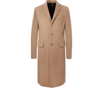 Slim-fit Wool And Cashmere-blend Coat - Camel
