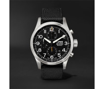 Big Crown Propilot Chronograph 44mm Stainless Steel And Nylon Watch - Black