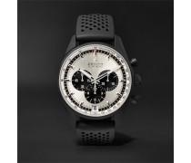 El Primero Chronomaster 1969 42mm Ceramicised Aluminium And Rubber Watch - Silver