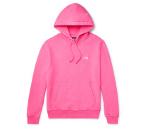 Logo-Embroidered Fleece-Back Cotton-Jersey Hoodie