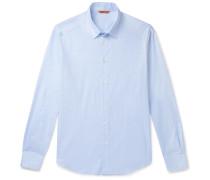 Slim-Fit Checked Cotton-Poplin Shirt