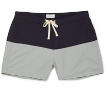 Ennis Short-length Colour-block Swim Shorts - Blue