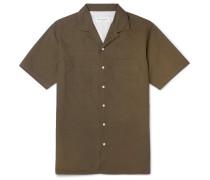 Don Camp-collar Cotton-poplin Shirt