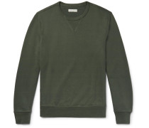 Loopback Cotton-jersey Sweatshirt - Dark green
