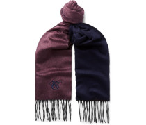 Silk And Cashmere-blend Scarf - Burgundy